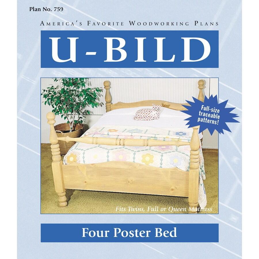Shop U Bild Four Poster Bed Woodworking Plan At