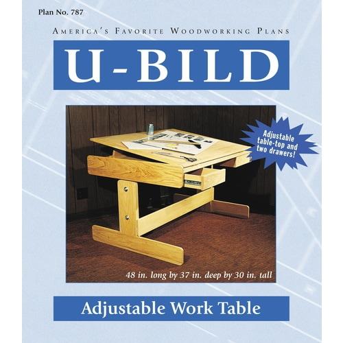 U-Bild Adjustable Work Table Carpentry and Woodcraft Book ...
