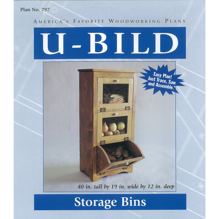Shop U-Bild Storage Bins Woodworking Plan at Lowes.com