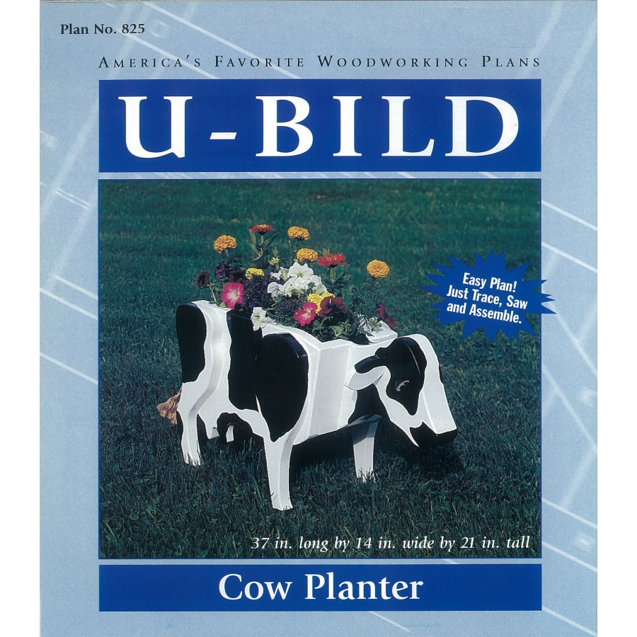 U-Bild Cow Planter Woodworking Plan