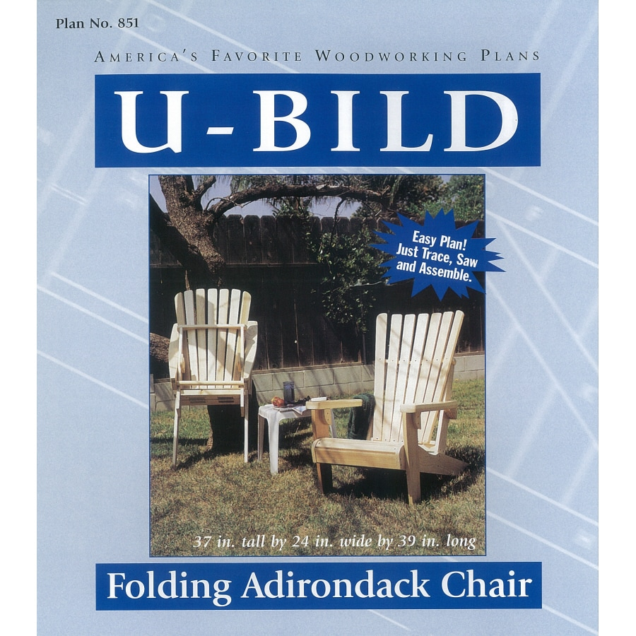 shop u bild folding adirondack chair woodworking plan at. Black Bedroom Furniture Sets. Home Design Ideas