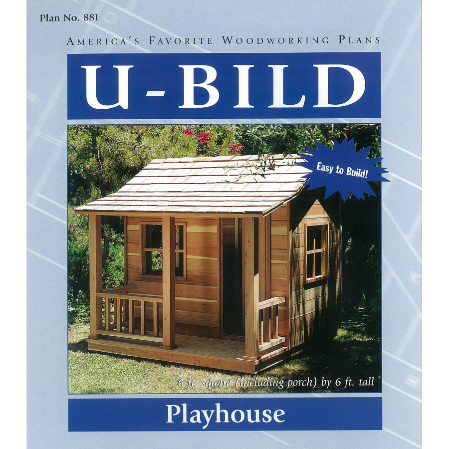 Shop u bild playhouse woodworking plan at for Free playhouse blueprints