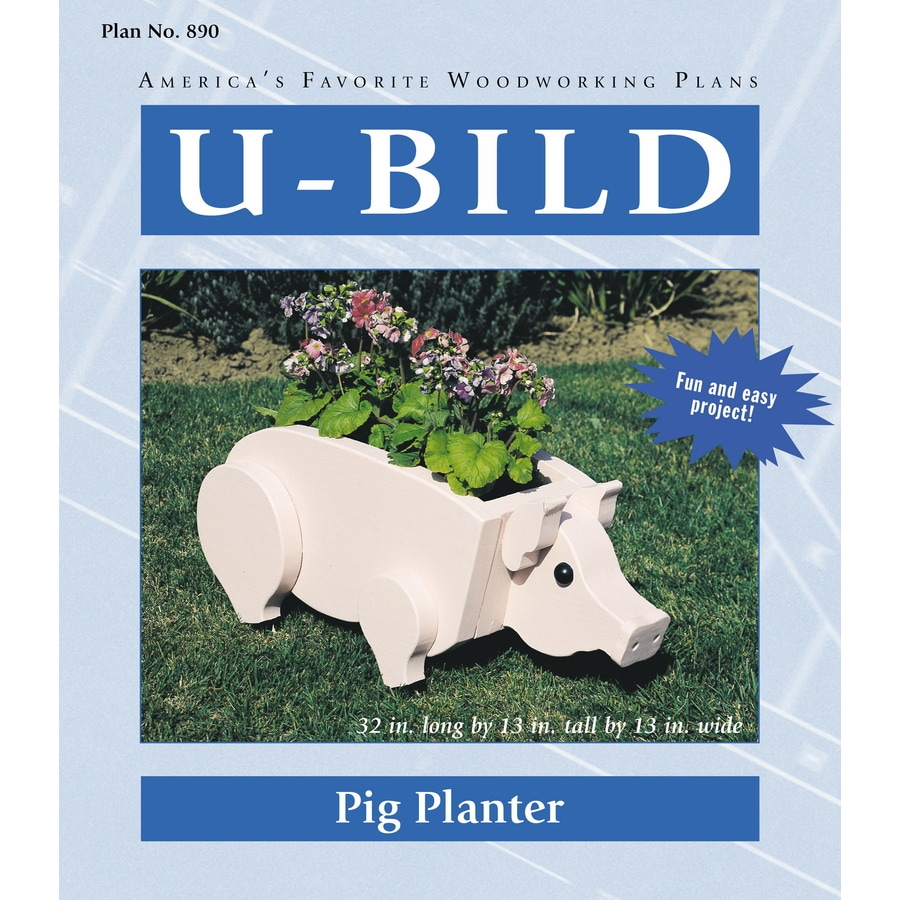 U-Bild Pig Planter Woodworking Plan