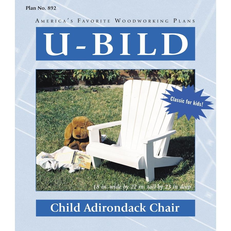 U-Bild Child Adirondack Chair Woodworking Plan