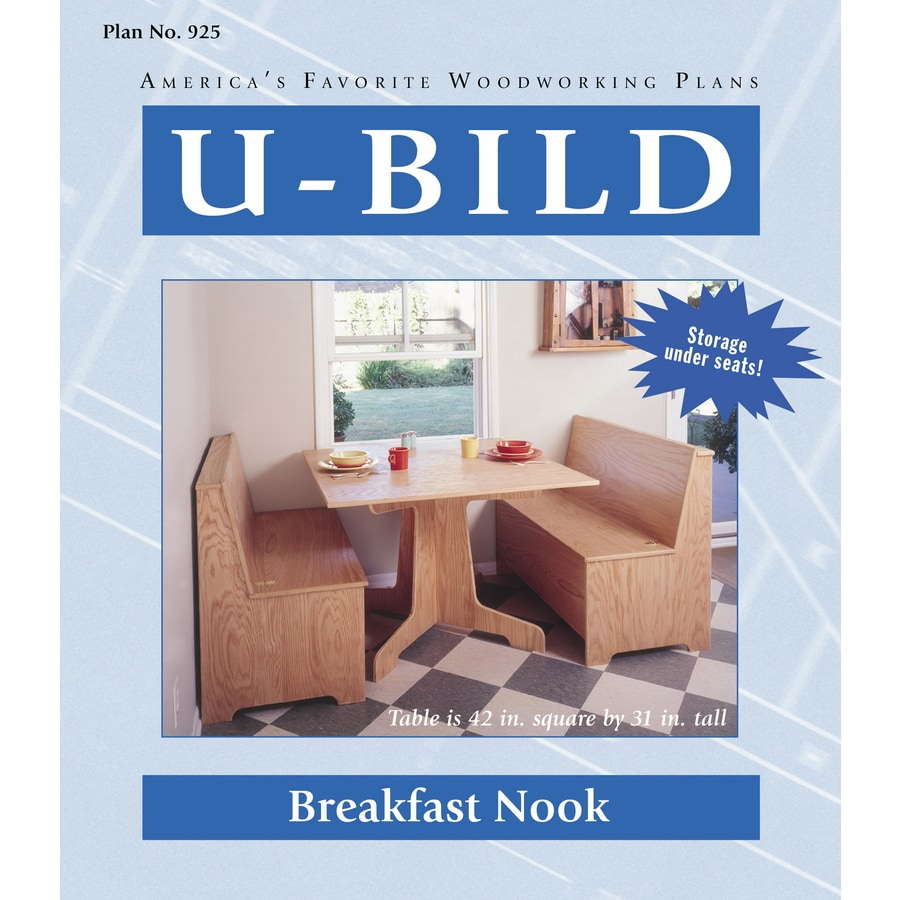 Shop U Bild Breakfast Nook Woodworking Plan At Lowes Com
