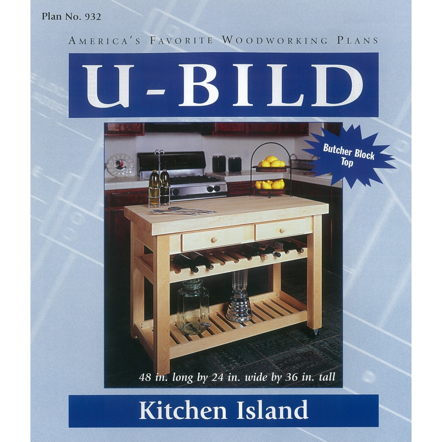 U Bild Kitchen Island Woodworking Plan