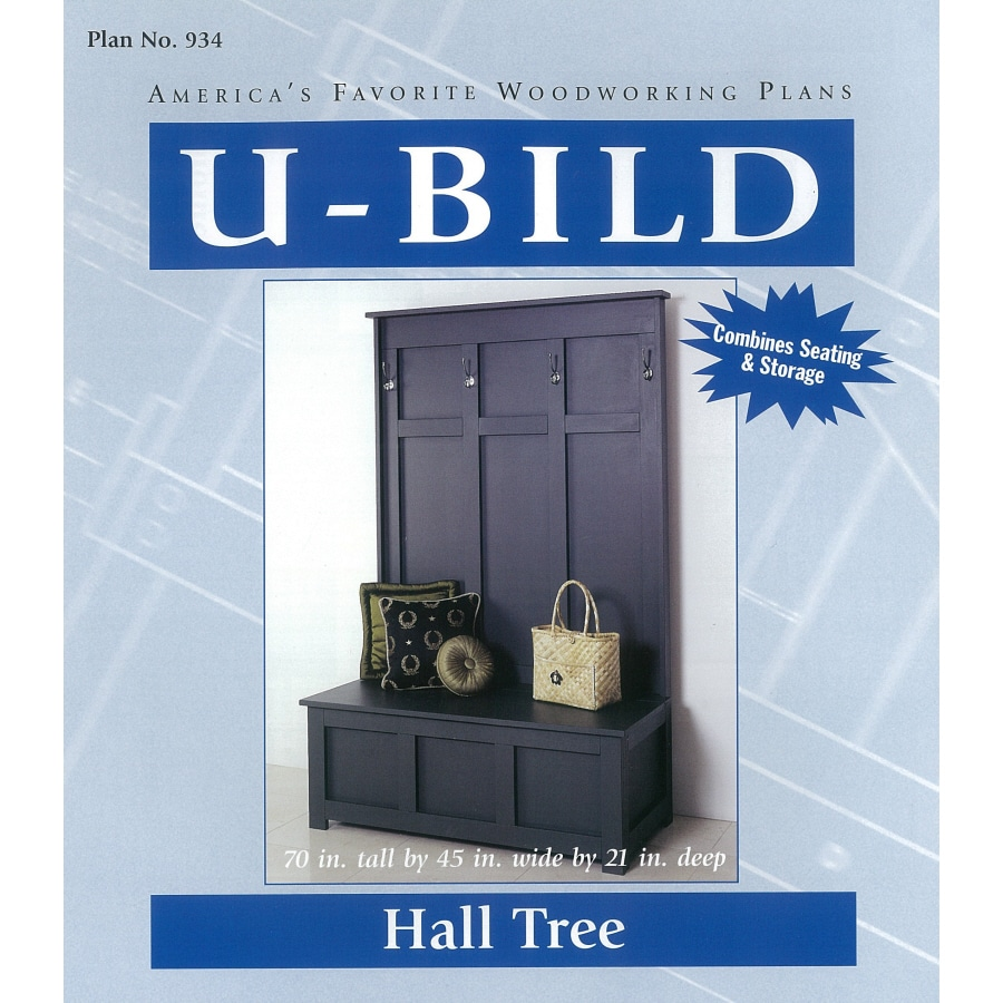 U-Bild Hall Tree Woodworking Plan