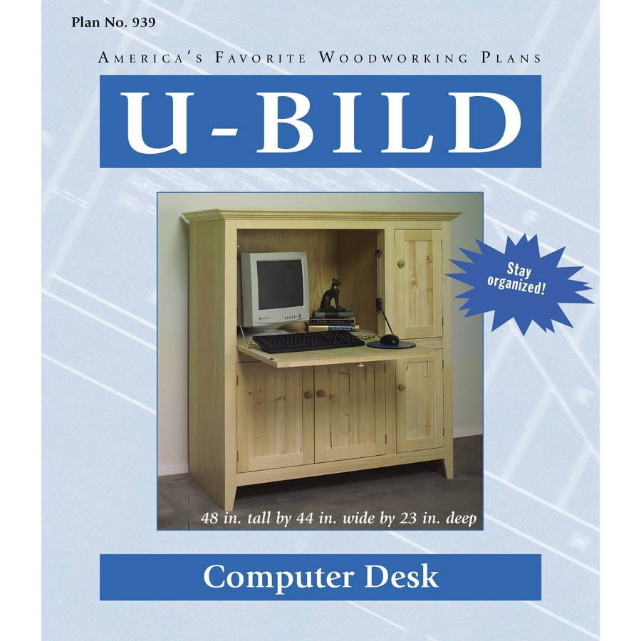 U-Bild Computer Desk Woodworking Plan