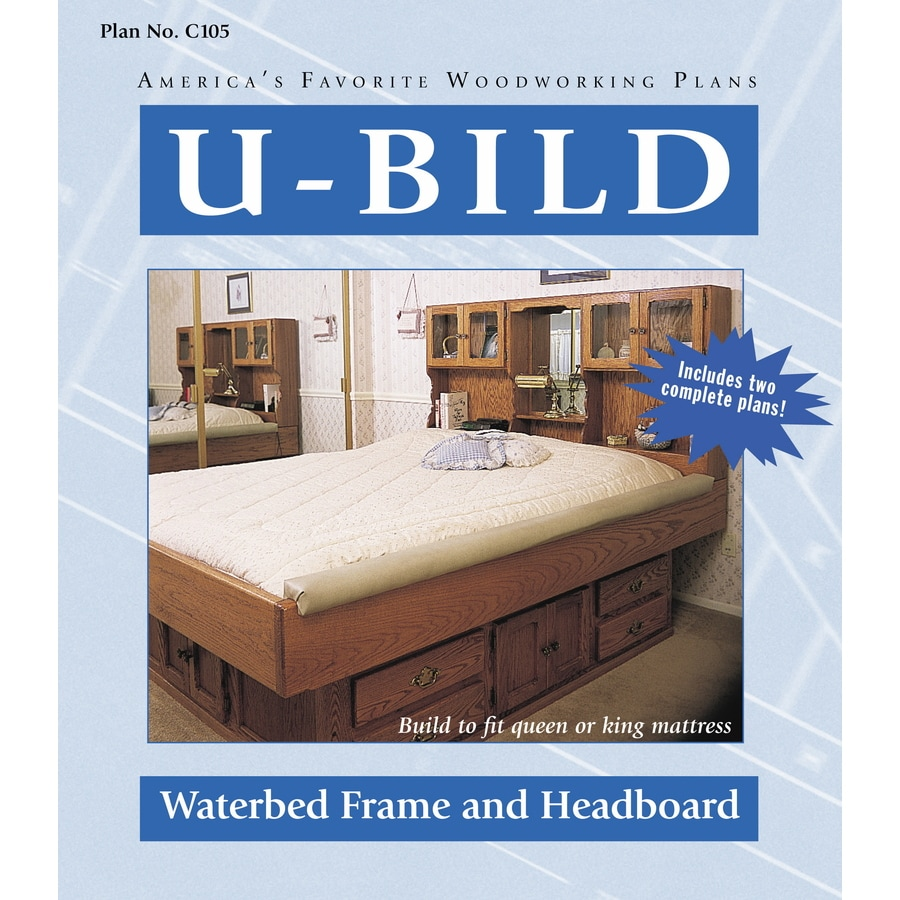 u bild waterbed frame and headboard woodworking plan - Water Bed Frame