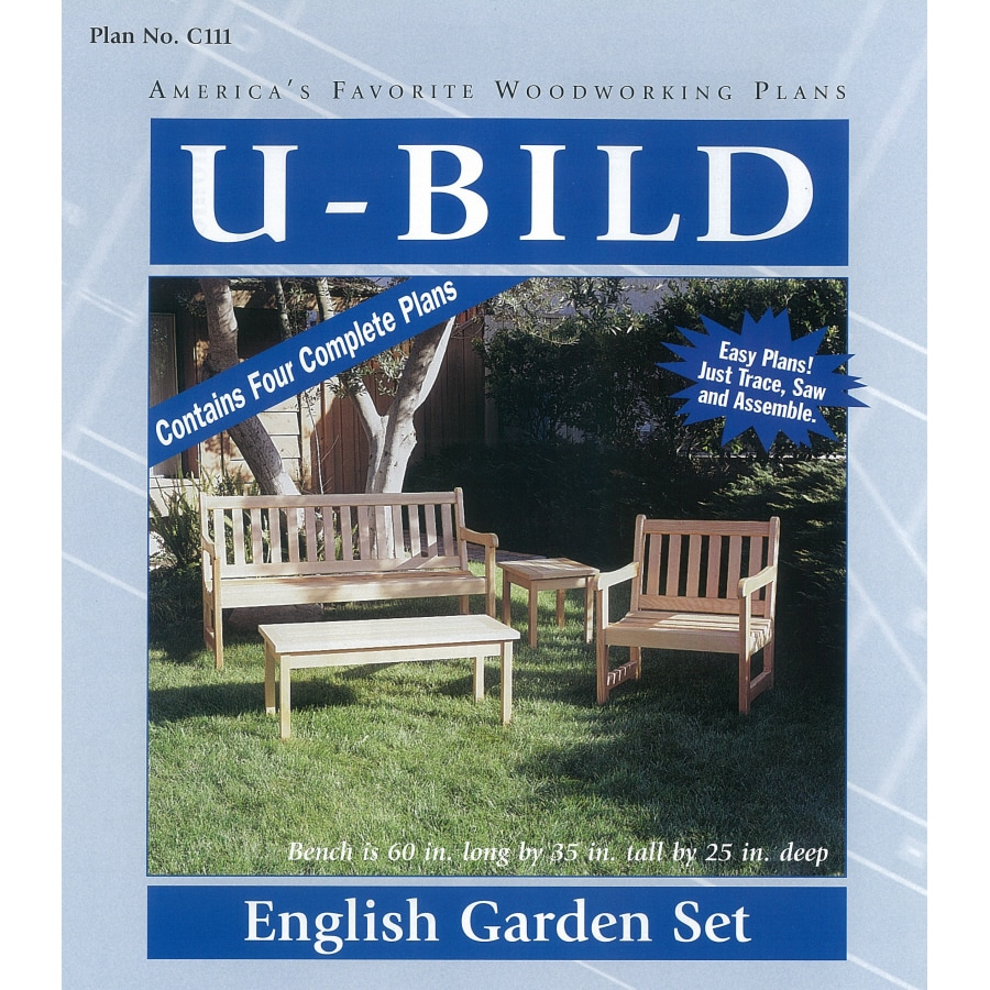 U-Bild English Garden Set Woodworking Plan