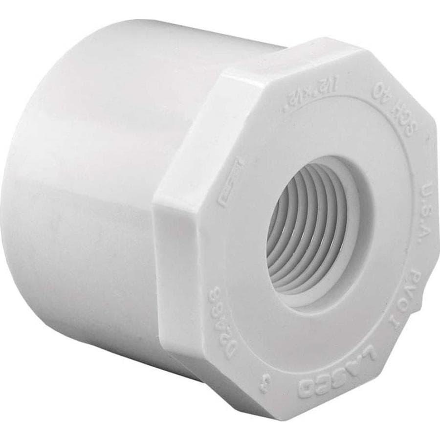 LASCO 1-1/2-in Dia x 1/2-in Dia PVC Sch 40 Bushing