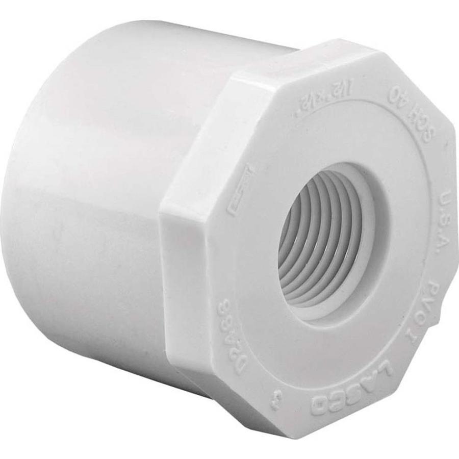 LASCO 1-1/2-in Dia x 1-1/4-in Dia PVC Sch 40 Bushing