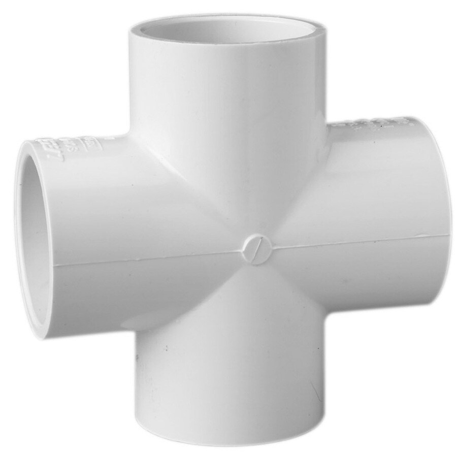 LASCO 1-1/4-in Dia 90-Degree PVC Sch 40 Cross Tee