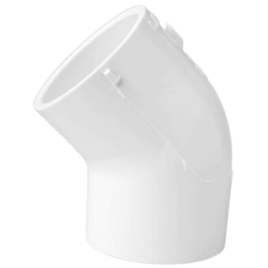 LASCO 1-1/2-in Dia 45-Degree PVC Sch 40 Slip Elbow