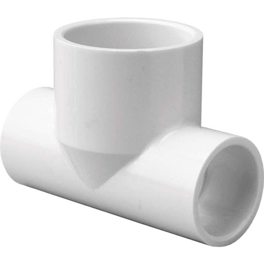 LASCO 1/2-in Dia x 1/2-in Dia x 3/4-in Dia 90-Degree PVC Sch 40 Tee