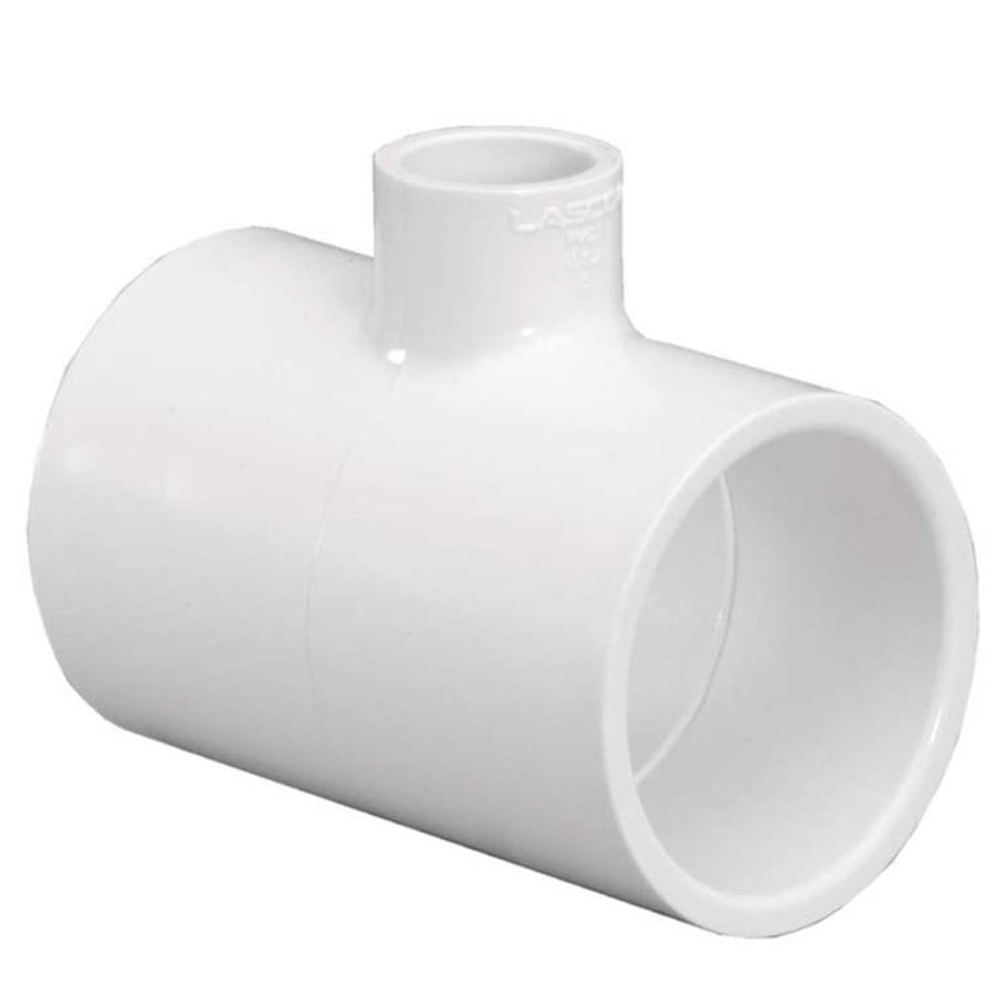 LASCO 1-1/4-in Dia x 1-1/4-in Dia x 1/2-in Dia 90-Degree PVC Sch 40 Tee