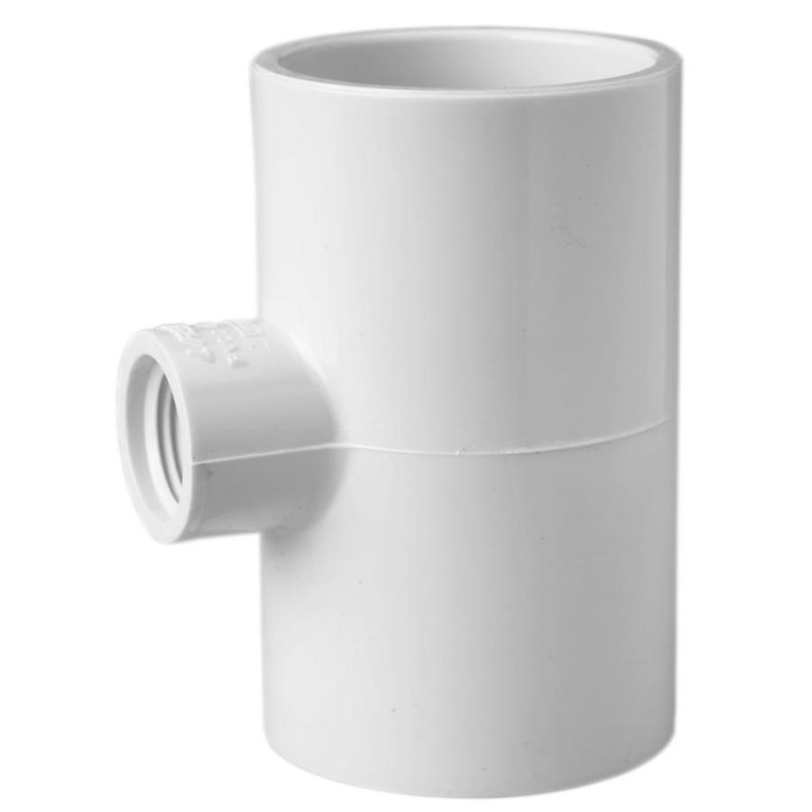 LASCO 3/4-in Dia x 3/4-in Dia x 1/2-in Dia 90-Degree PVC Sch 40 Tee