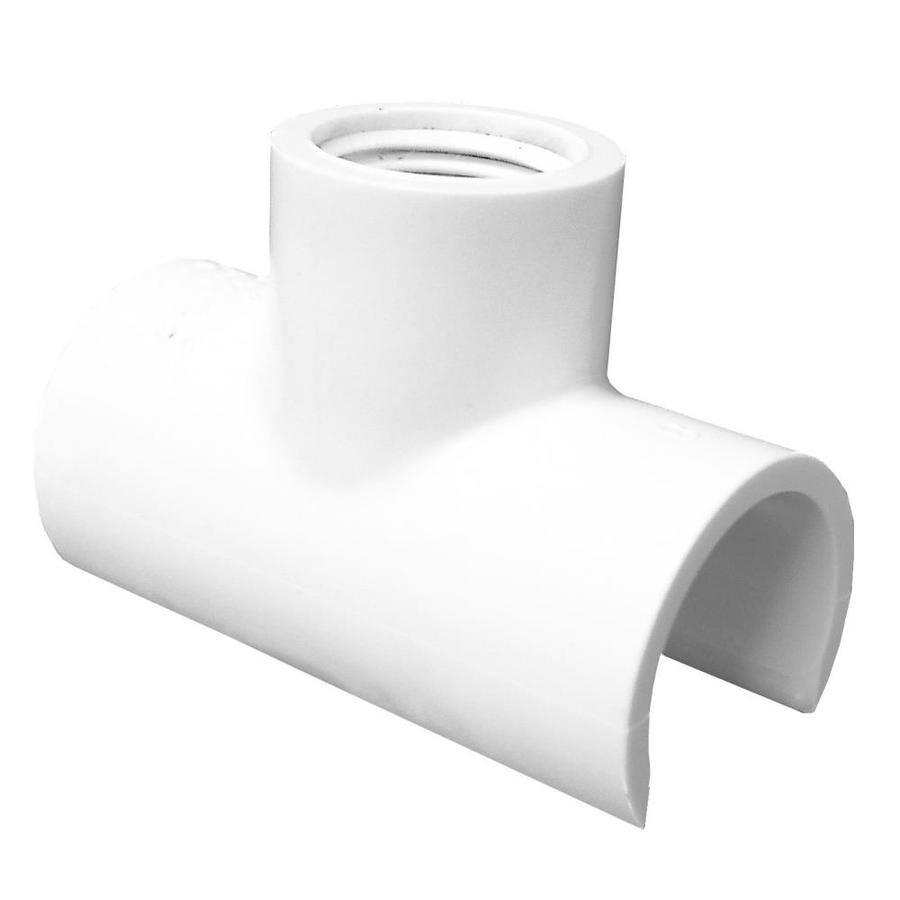 LASCO 1-in Dia x 1-in Dia x 1/2-in Dia 90-Degree PVC Sch 40 Tee