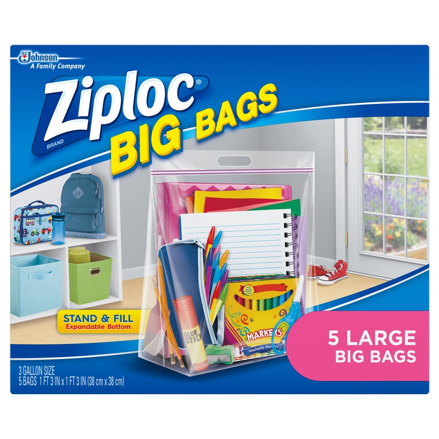 3 Gallon Plastic Storage Bags At Lowes