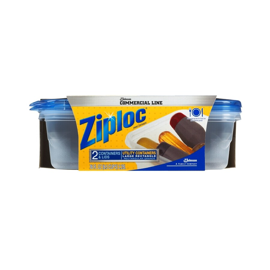 Ziploc 2-Pack Large Rectangular Containers with Lids