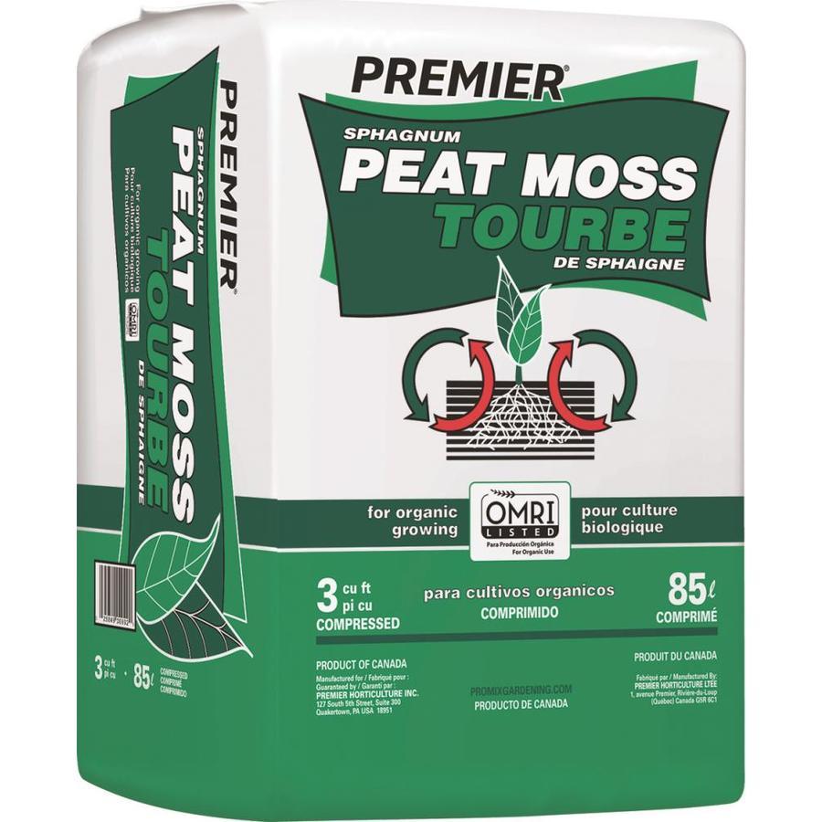 Premier 3 Cu Ft Peat Moss Sphagnum