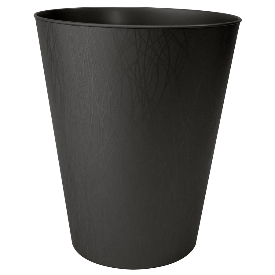 Hefty 2.3-Gallon Black Plastic Indoor Touchless Trash Can