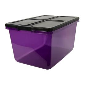 Hefty 16.5 Gallon (66 Quart) Purple Tote With Latching Lid
