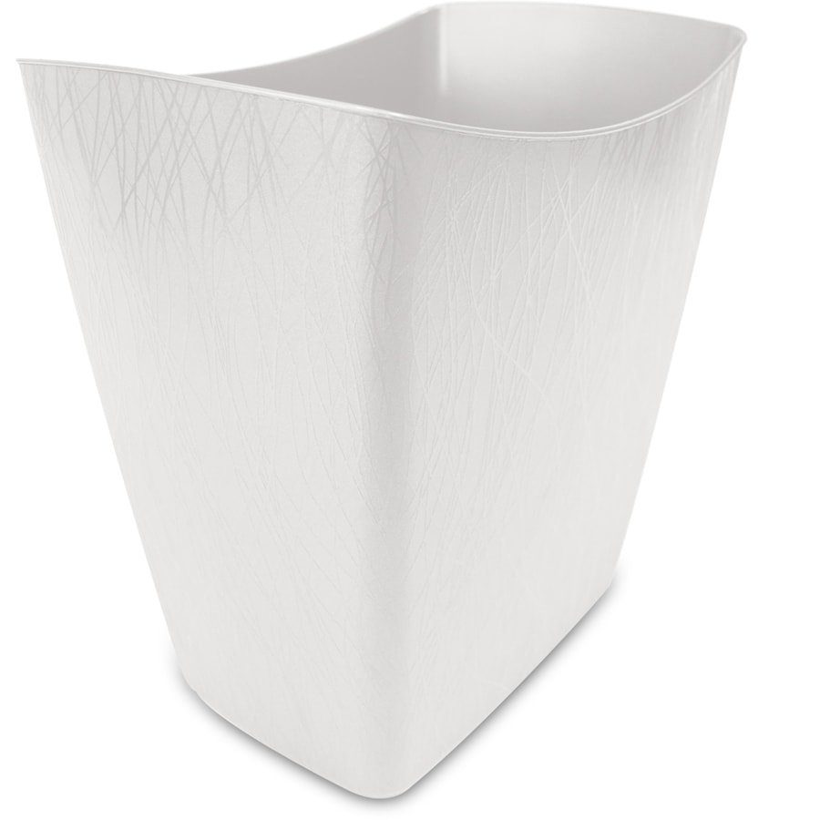 Hefty 3.5-Gallon White Plastic Touchless Trash Can