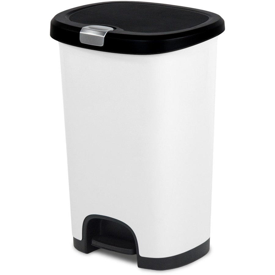 Shop Hefty Select Line 128Gallon White Plastic Touchless Trash Can