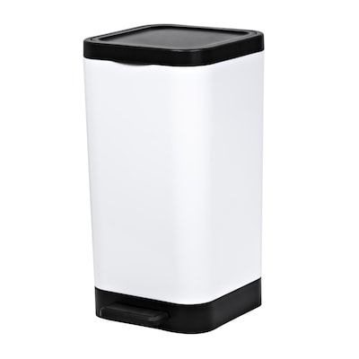 Hefty 2.65 Gallon White Plastic Trash Can With Lid by Lowe's