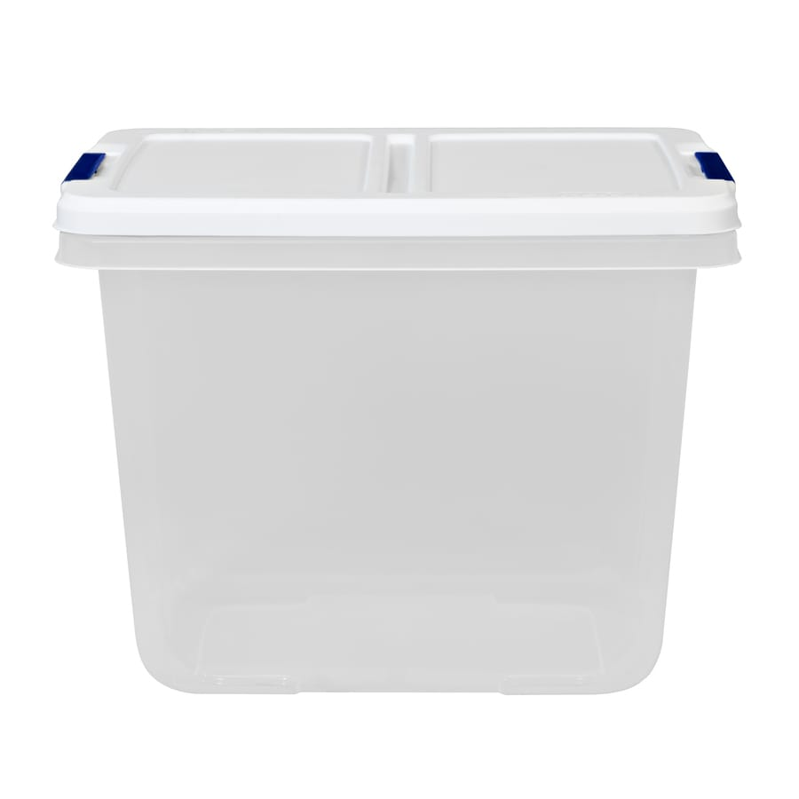Hefty 29 Quart Clear Tote With Latching Lid