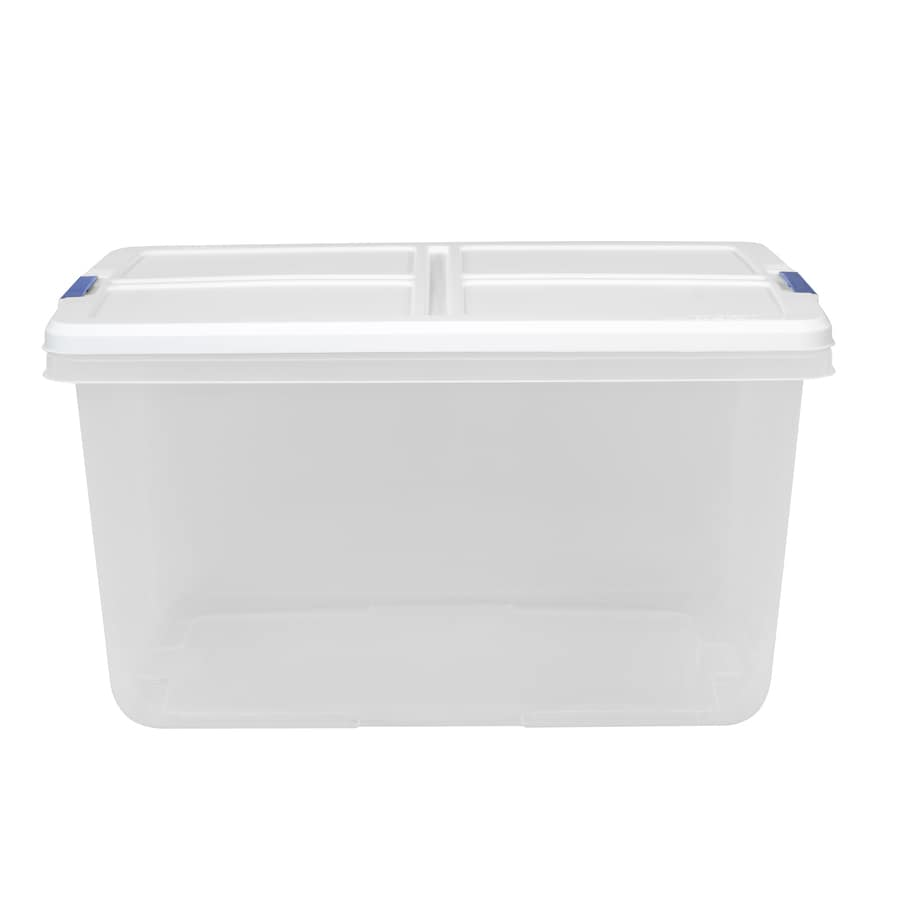 hefty 15quart clear tote with latching lid