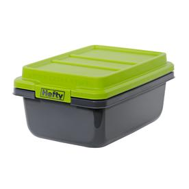 Hefty 4 5 Gallon Gray Tote With Latching Lid