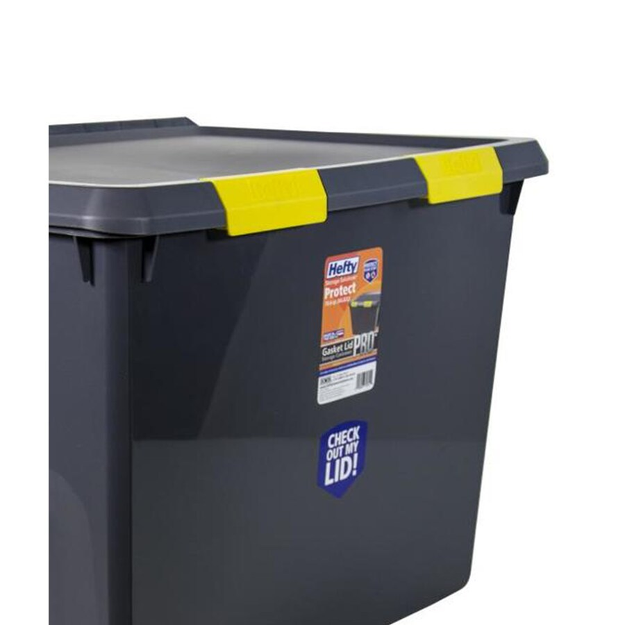 Hefty 17.5-Gallon Gray Tote with Latching Lid