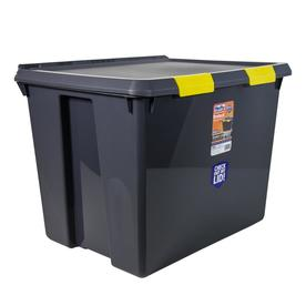 Hefty 17 5 Gallon Gray Tote With Latching Lid