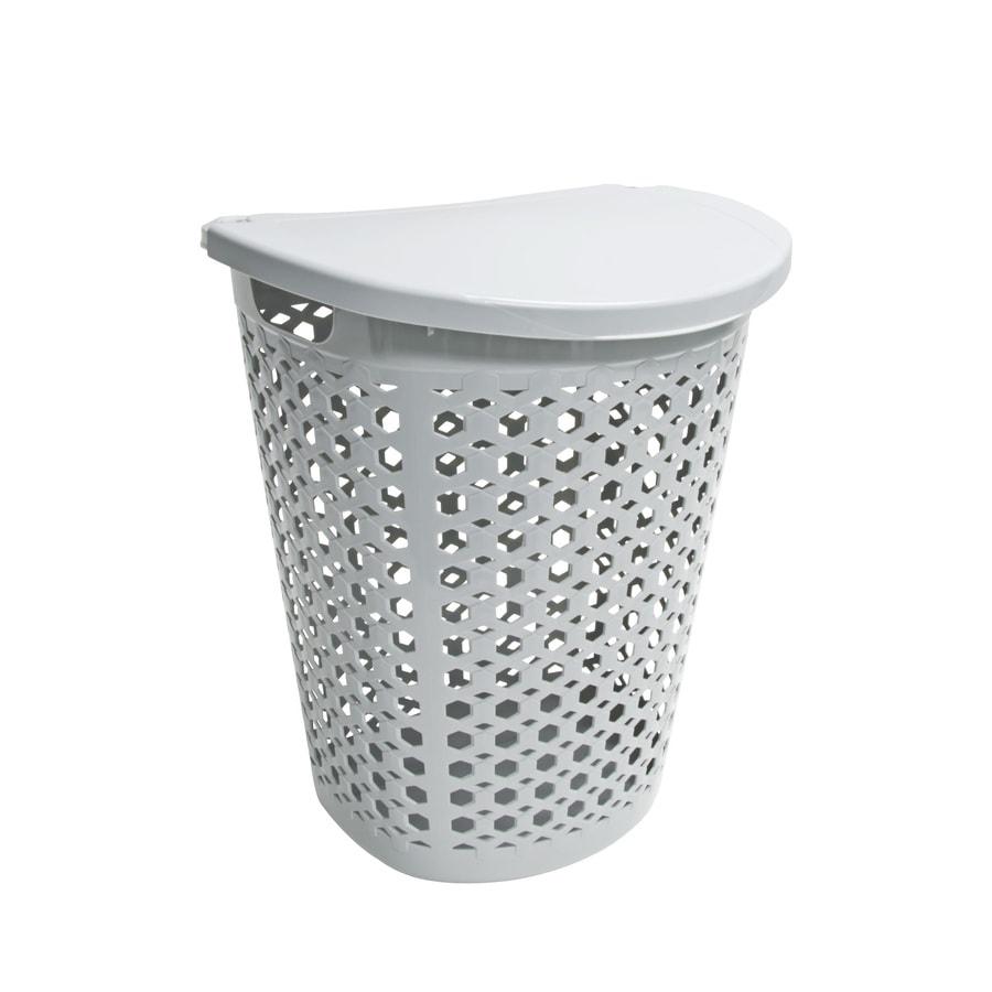 Home Logic 1.7-Bushel Plastic Basket or Clothes Hamper