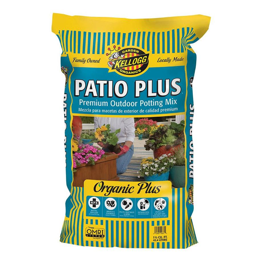 Kellogg 1 5 Cu Ft Organic Potting Mix With Fertilizer