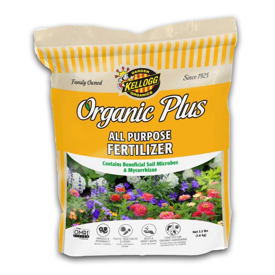 Kellogg Organic Plus 3.5-lb Organic/Natural Flower and Vegetable Food (4-4-4)