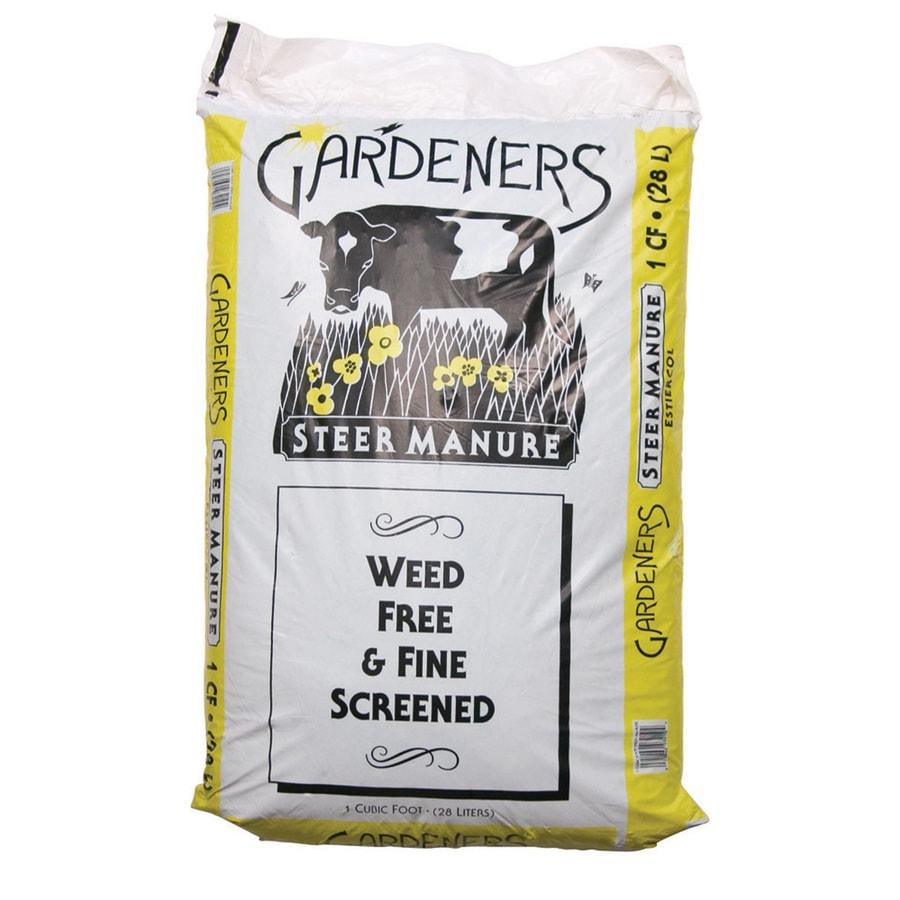 Gardeners 1-cu ft Steer Manure