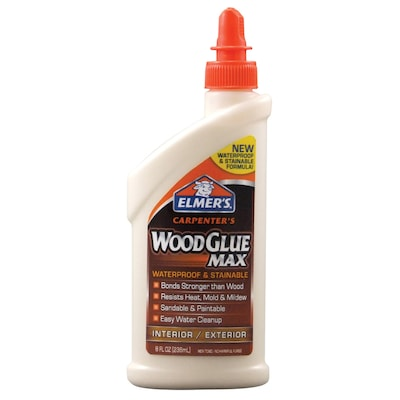 ELMER'S Carpenter's Wood Glue MAX Off-white Interior/Exterior Wood Adhesive (Actual Net Contents: 8-fl oz)