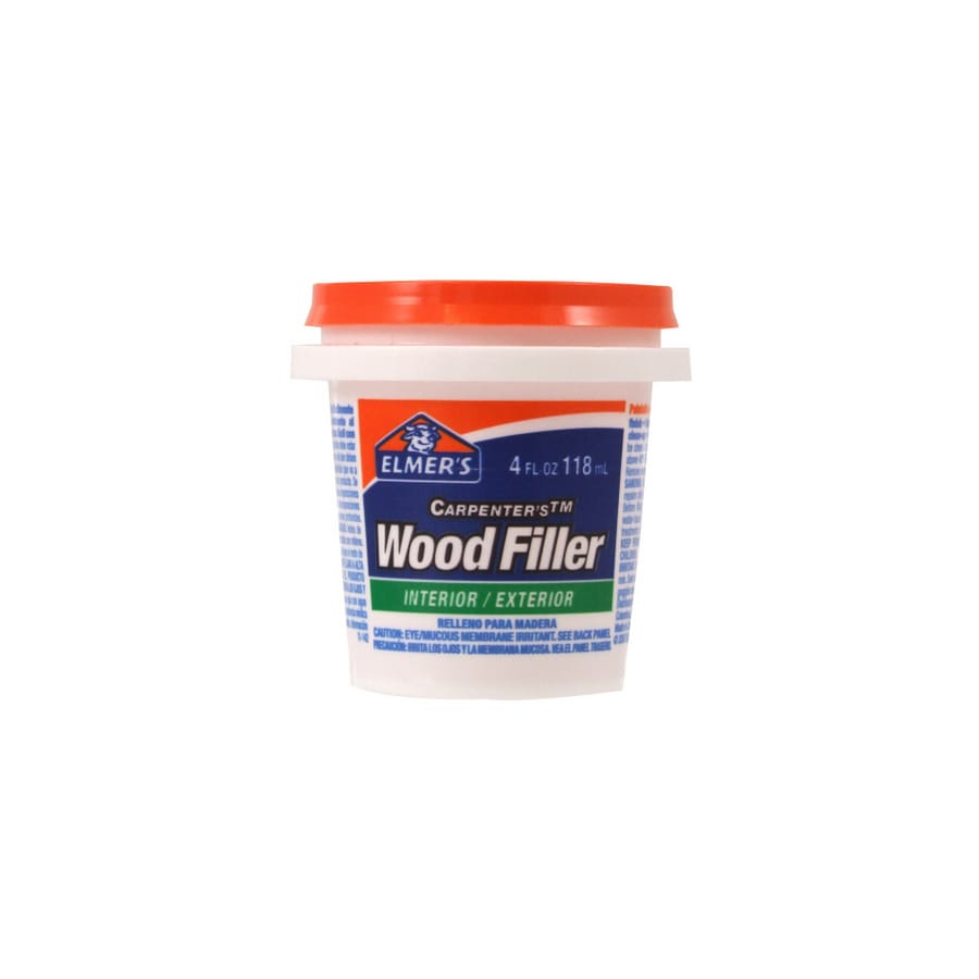 Shop elmer 39 s 4 oz interior exterior wood filler at for Exterior wood filler paintable