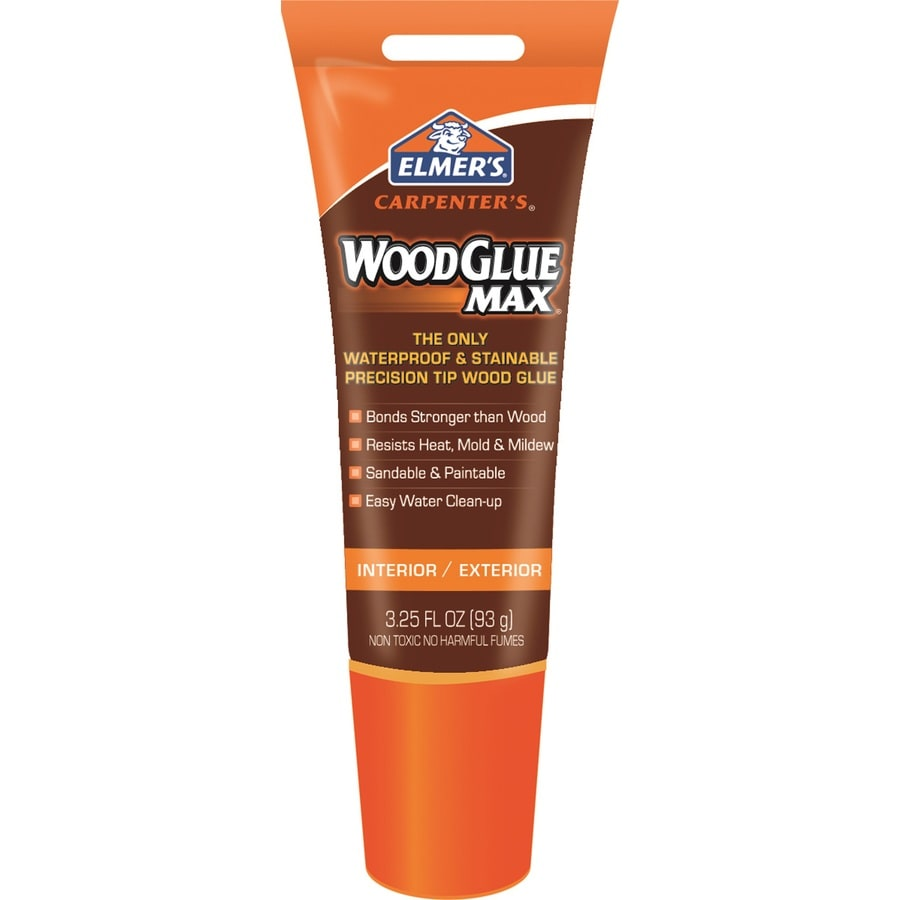 Elmer's Wood Glue MAX Off-White Interior/Exterior Wood Adhesive (Actual Net Contents: 3.25-fl oz)