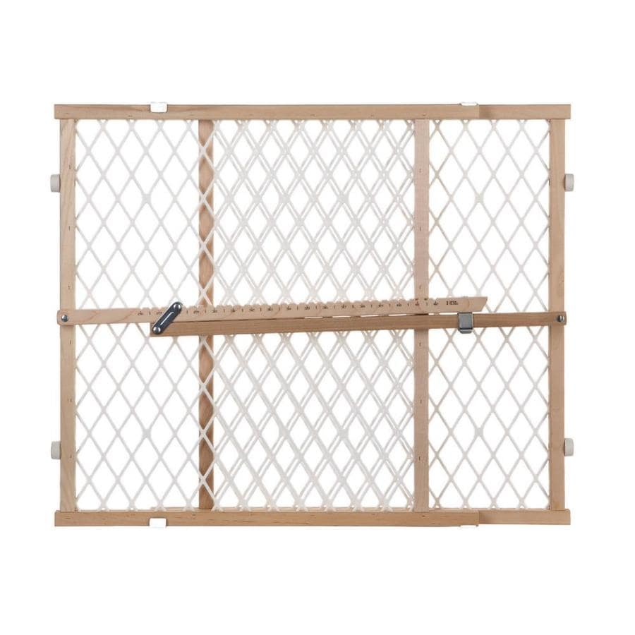 North States Industries, Inc. Diamond Mesh Gate 42-in x 23-in Natural Wood Child Safety Gate