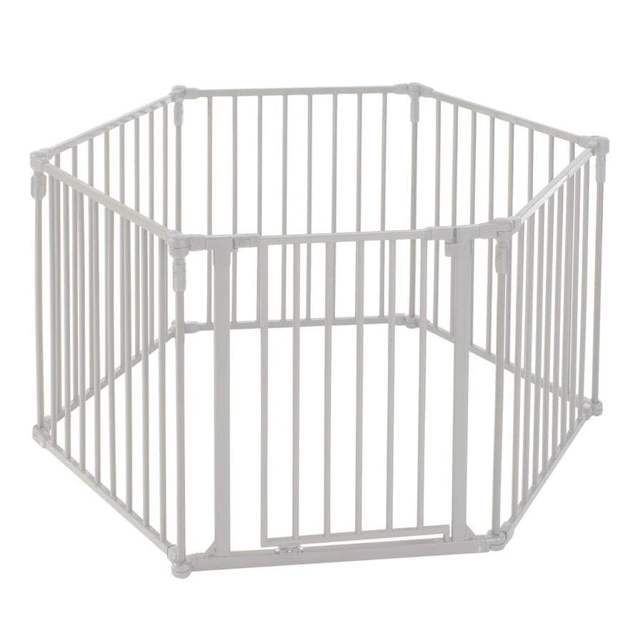North States Industries, Inc. 3-in-1 Metal Superyard 151-in x 30-in Taupe Metal Child Safety Gate
