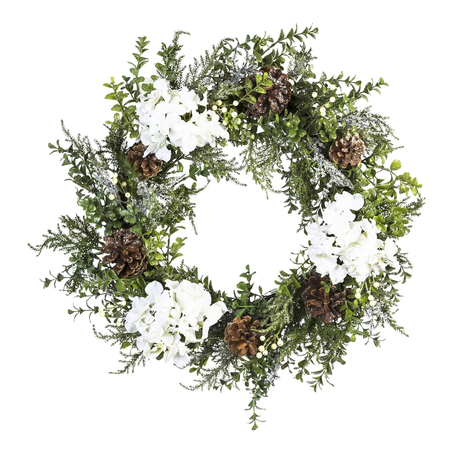 22-in White Blossom Artificial Christmas Wreath