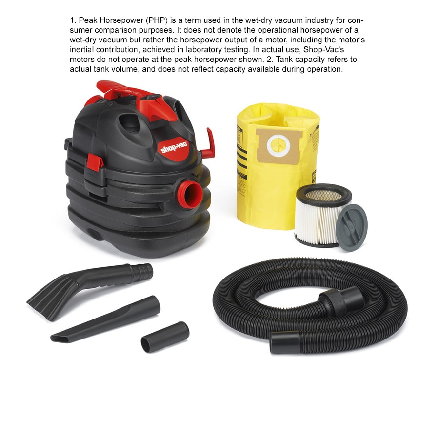 Shop-Vac 5-Gallon 6-Peak HP Shop Vacuum