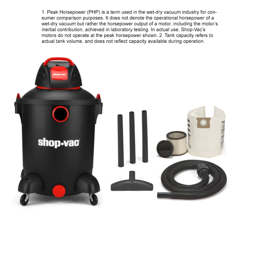 Shop-Vac 10-Gallon 4-Peak-HP Shop Vacuum