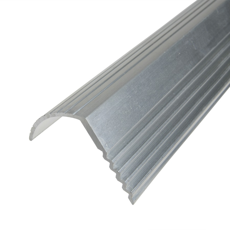 Beautiful Columbia Aluminum Products 1.125 In X 72 In Silver Stair Edging