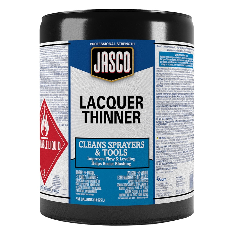 Jasco 5-Gallon Size Can Fast to Dissolve Lacquer Thinner (Actual Net Contents: 640-fl oz)
