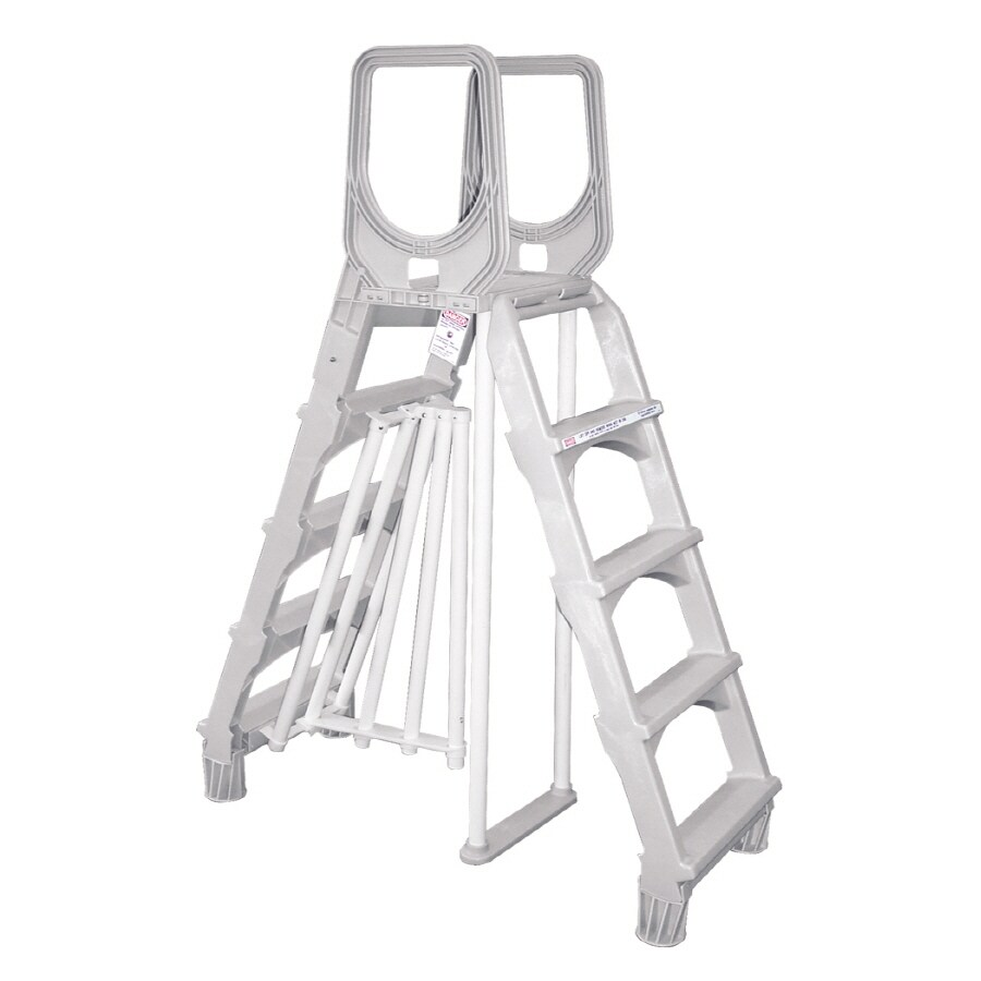 Aqua EZ 52-in Plastic A-Frame Pool Ladder